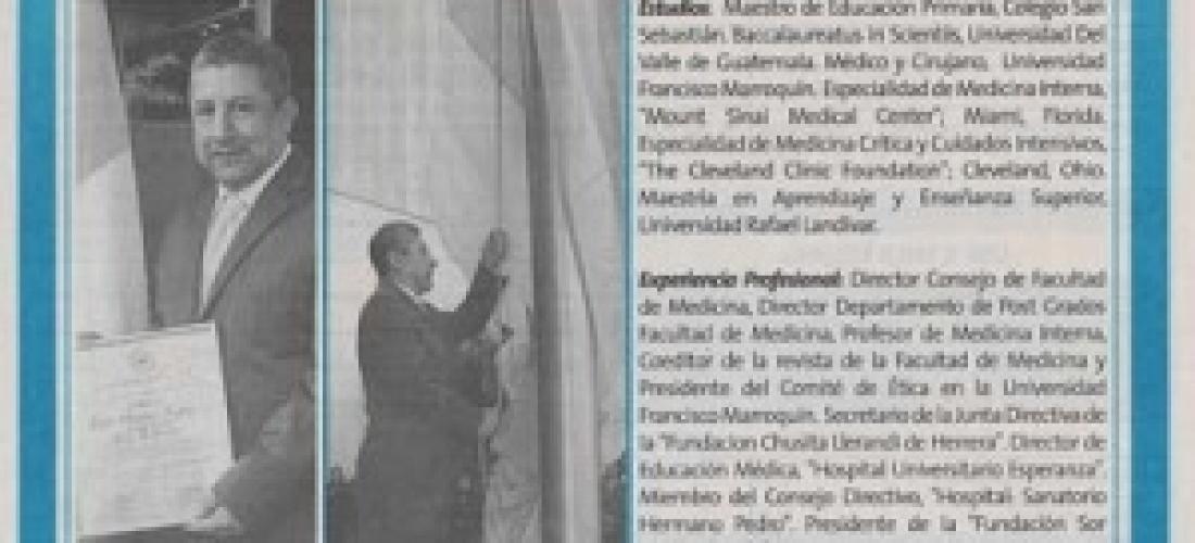 Banco Industrial reconoce a doctor Edgar López