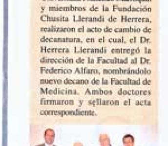 Cambio de Decanatura de la Faculta de Medicina de la UFM