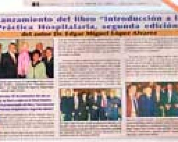 """Lanzamiento del libro """"Introducción a la Práctica Hospitalaria, segunda edición"""""""